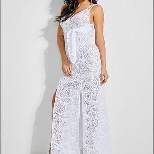 🆕NWT Guess Zandra White Lace Maxi Dress Size XS